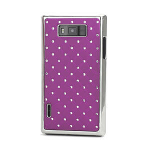 Drahokamové pouzdro pro LG Optimus L7 P700- fialové - 1