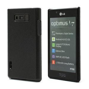 Texturované pouzdro pro LG Optimus L7 P700- černé - 1