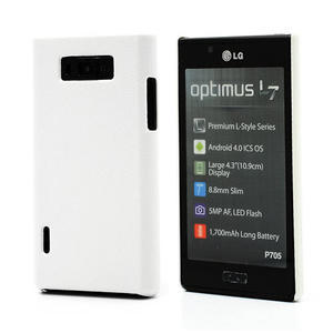 Texturované pouzdro pro LG Optimus L7 P700- bílé - 1