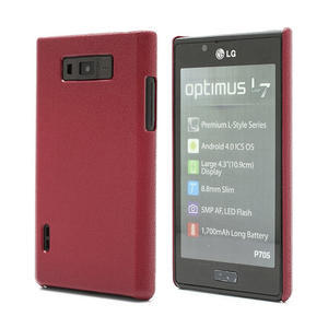 Texturované pouzdro pro LG Optimus L7 P700- červené - 1