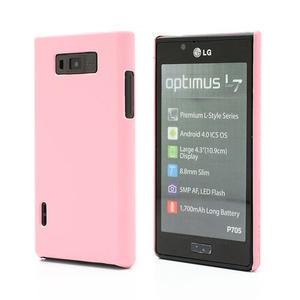 Texturované pouzdro pro LG Optimus L7 P700- světlerůžové - 1