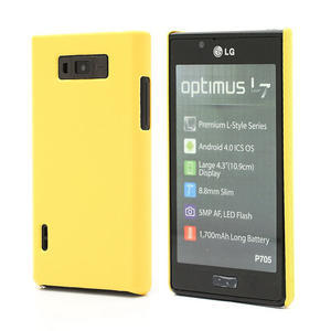 Texturované pouzdro pro LG Optimus L7 P700- žluté - 1
