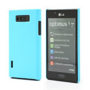 Texturované pouzdro pro LG Optimus L7 P700- modré - 1