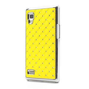 Drahokamové pouzdro pro LG Optimus L9 P760- žluté - 1