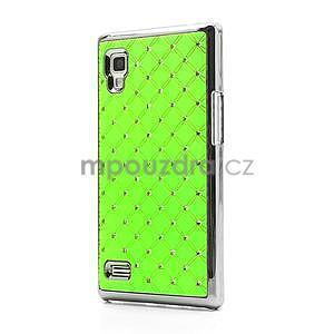 Drahokamové pouzdro pro LG Optimus L9 P760- zelené - 1