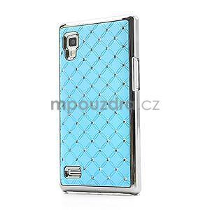Drahokamové pouzdro pro LG Optimus L9 P760- světlemodré - 1
