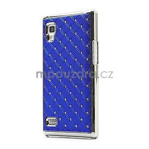 Drahokamové pouzdro pro LG Optimus L9 P760- modré - 1