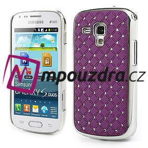 Drahokamové pouzdro pro Samsung Trend plus, S duos- fialové - 1