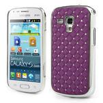 Drahokamové pouzdro pro Samsung Trend plus, S duos- fialové - 1/4