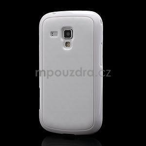 Plastogelové pouzdro na Samsung Galaxy Trend, Duos- bílé - 1