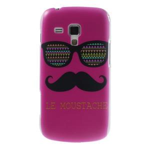 Plastové pouzdro na Samsung Trend plus, S duos - růžové kníraté - 1