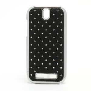Drahokamové pouzdro pro HTC One SV- černé - 1