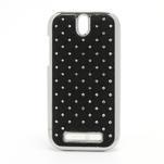 Drahokamové pouzdro pro HTC One SV- černé - 1/6