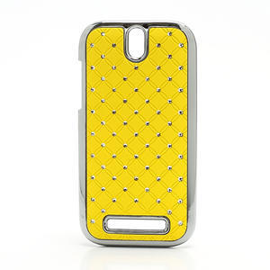 Drahokamové pouzdro pro HTC One SV- žluté - 1