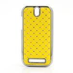 Drahokamové pouzdro pro HTC One SV- žluté - 1/5