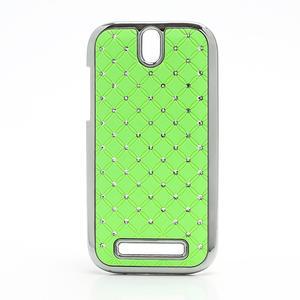 Drahokamové pouzdro pro HTC One SV- zelené - 1