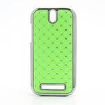 Drahokamové pouzdro pro HTC One SV- zelené - 1/5