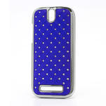 Drahokamové pouzdro pro HTC One SV- modré - 1/5