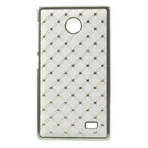 Drahokamové pouzdro na Nokia X dual- bílé - 1