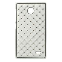 Drahokamové pouzdro na Nokia X dual- bílé - 1/5