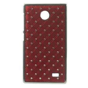 Drahokamové pouzdro na Nokia X dual- červené - 1