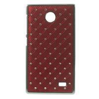 Drahokamové pouzdro na Nokia X dual- červené - 1/5