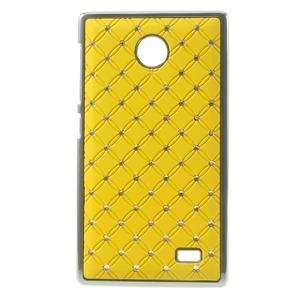 Drahokamové pouzdro na Nokia X dual- žluté - 1