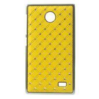 Drahokamové pouzdro na Nokia X dual- žluté - 1/5