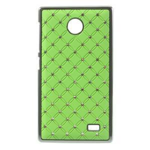Drahokamové pouzdro na Nokia X dual- zelené - 1