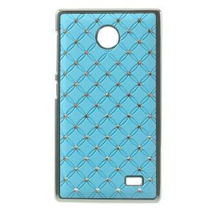 Drahokamové pouzdro na Nokia X dual- světlemodré - 1