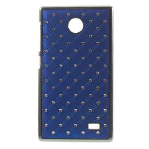 Drahokamové pouzdro na Nokia X dual- modré - 1