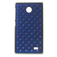 Drahokamové pouzdro na Nokia X dual- modré - 1/5