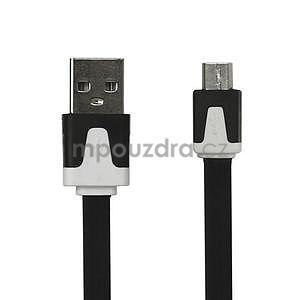 Nabíjecí, propojovací micro USB kabel, černý / bílý - 1