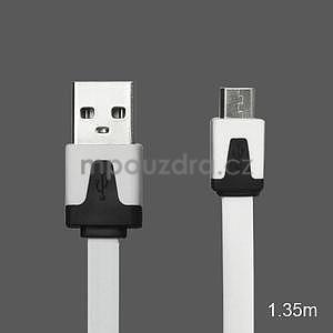 Nabíjecí, propojovací micro USB kabel, bílý / černý - 1