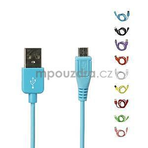 micro USB kabel - délka 1 m, modrý
