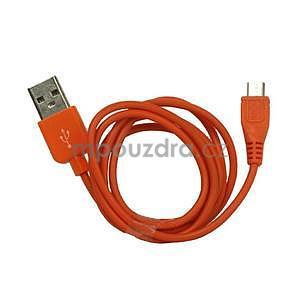 micro USB kabel - délka 1 m, oranžový