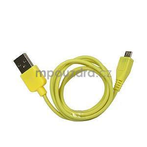 micro USB kabel - délka 1 m, žlutý