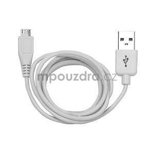 micro USB kabel - délka 1 m, bílý