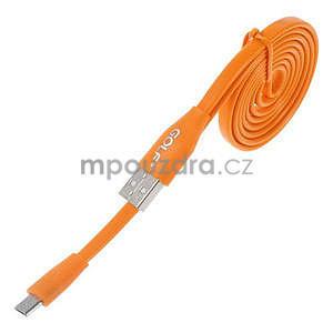 Propojovací micro USB kabel - délka 1 m, oranžový - 1