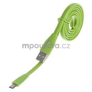 Propojovací micro USB kabel - délka 1 m, zelený - 1