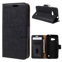 Cloth PU kožené pouzdro na mobil Microsoft Lumia 550 - černé - 1/7