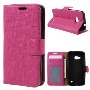 Cloth PU kožené pouzdro na mobil Microsoft Lumia 550 - rose - 1