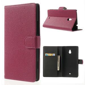 Peněženkové pouzdro pro Nokia Lumia 1320- růžové - 1