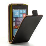Flipové černé pouzdro na Nokia Lumia 520 - 1/7