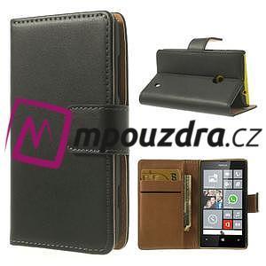 Peněženkové pouzdro na Nokia Lumia 520 - černé - 1