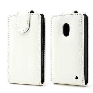 Flipové pouzdro na Nokia Lumia 620- bílé - 1