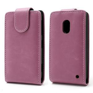 Flipové pouzdro na Nokia Lumia 620- růžové - 1
