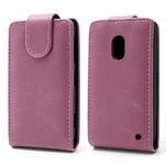 Flipové pouzdro na Nokia Lumia 620- růžové - 1/5