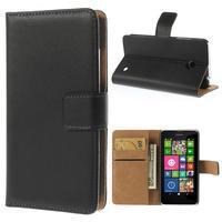 Peněženkové pouzdro na Nokia Lumia 630- černé - 1/7