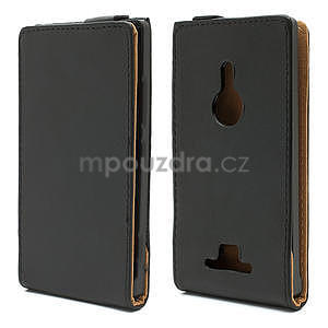 Flipové černé pouzdro pro Nokia Lumia 925 - 1